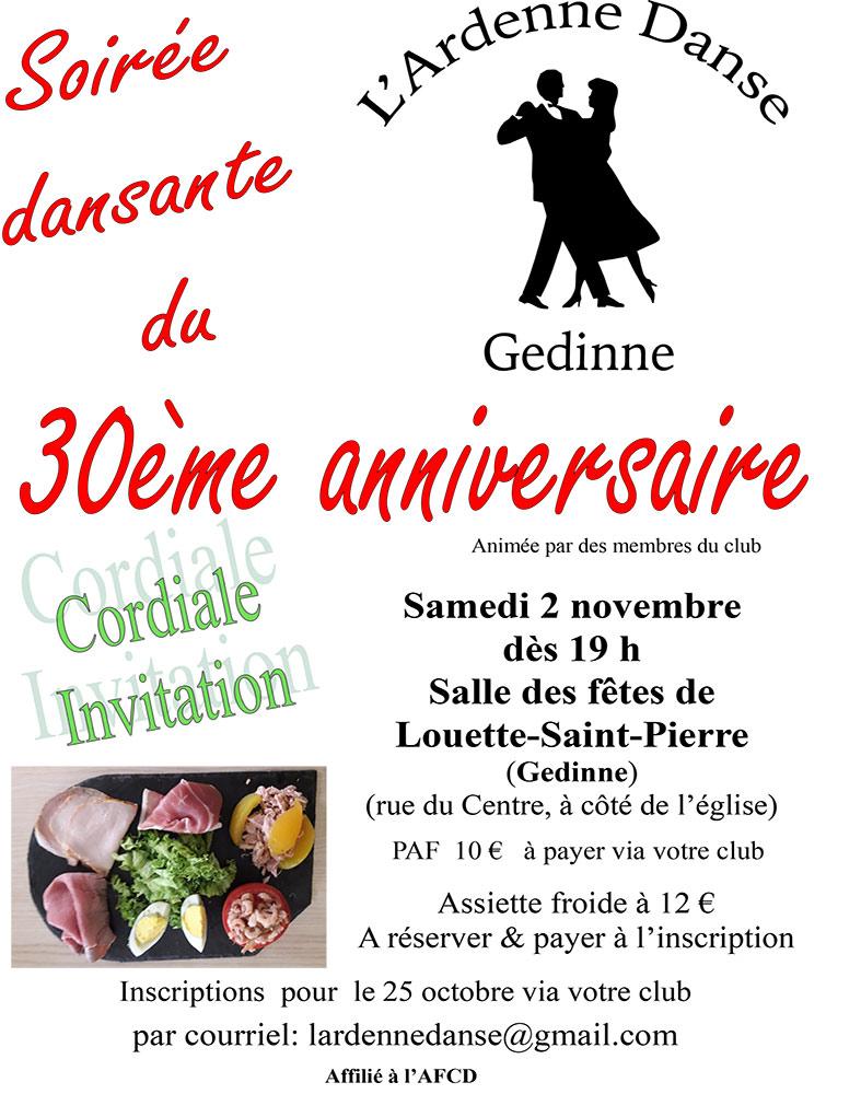 30ème anniversaire L'Ardenne Danse