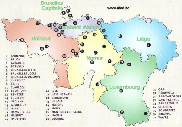 Carte clubs de danse belgique francophone