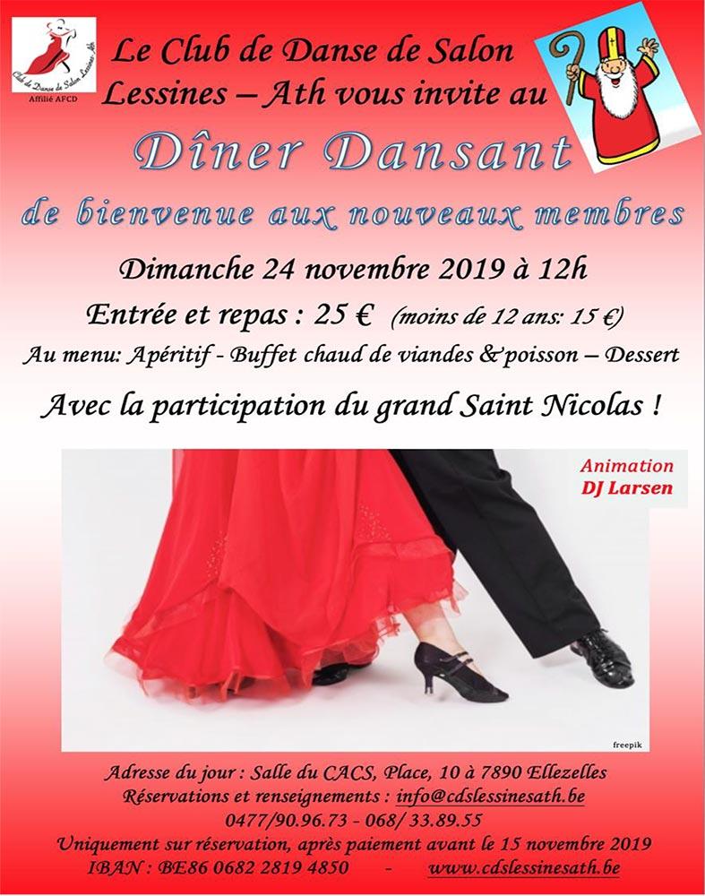 Diner Dansant Club de danse de salon Lessines-Ath 24/11