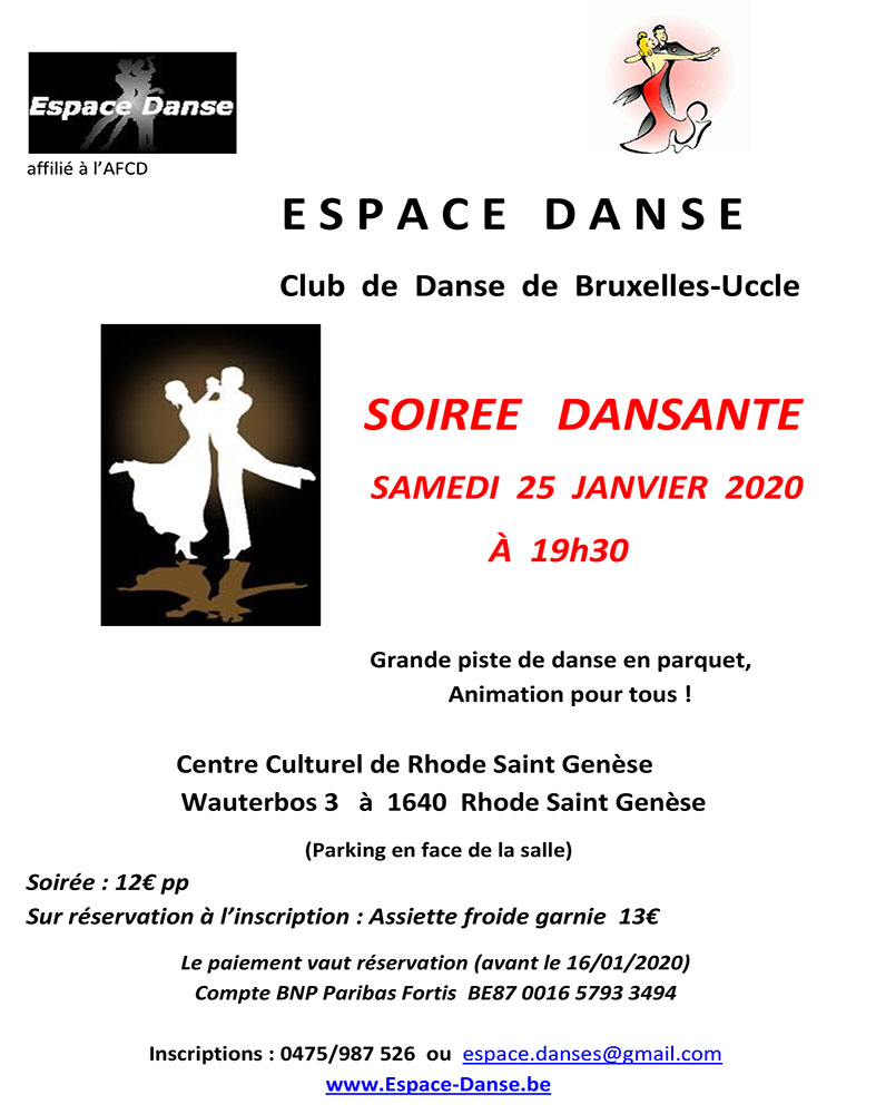 Soirée Espace Danse 25/01