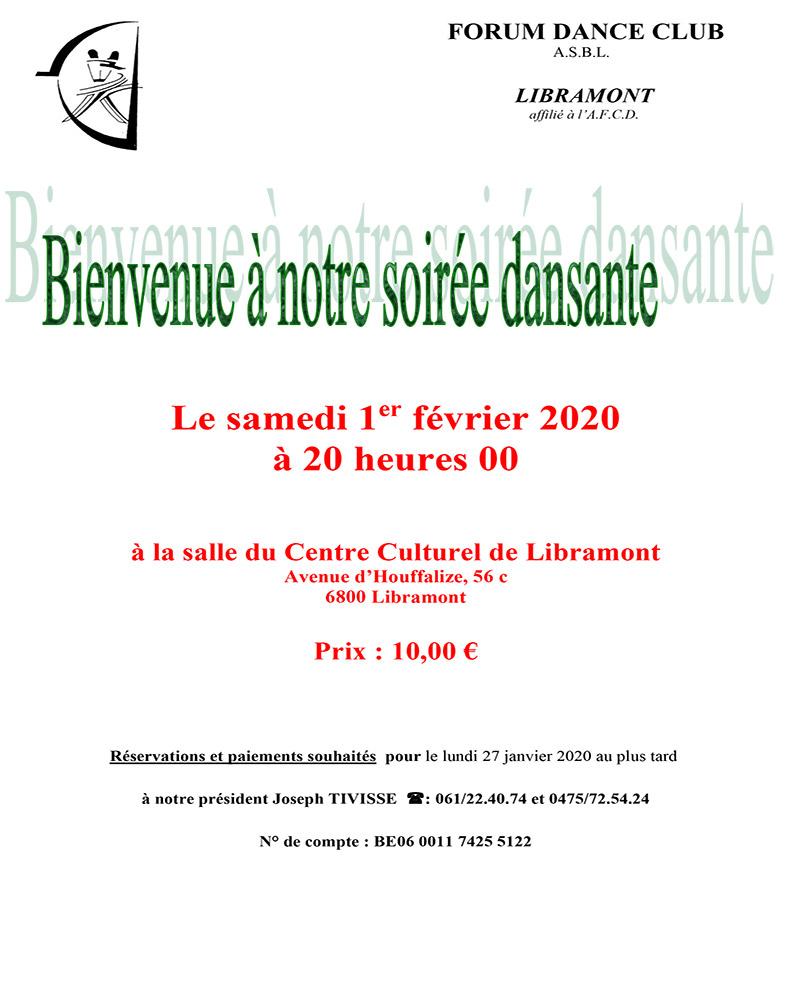 Soirée Dansante Forum DC 01/02/20