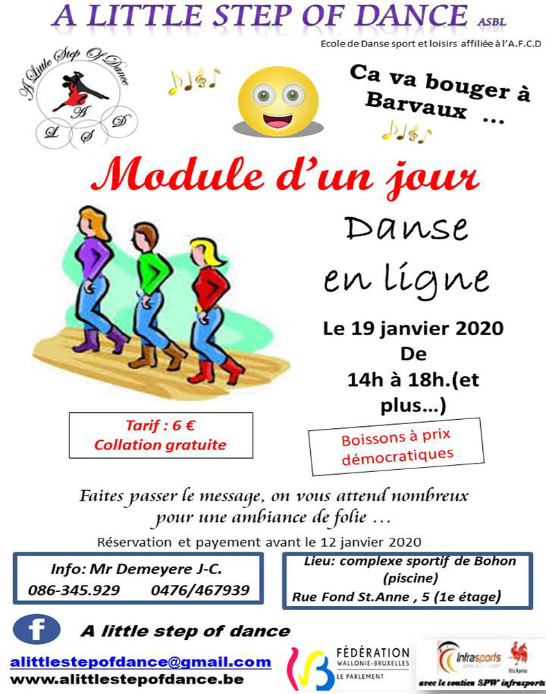 Danse en ligne A Little Step of Dance 19/01