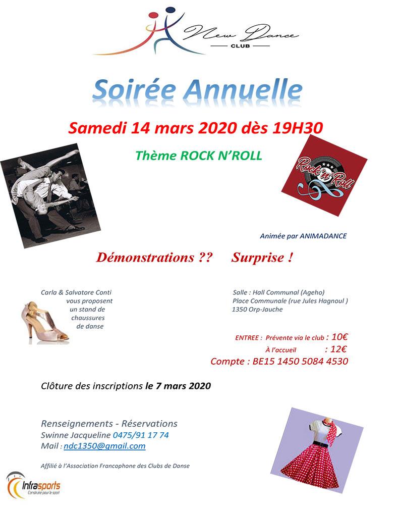 Soirée annuelle New Dance Club 14/03
