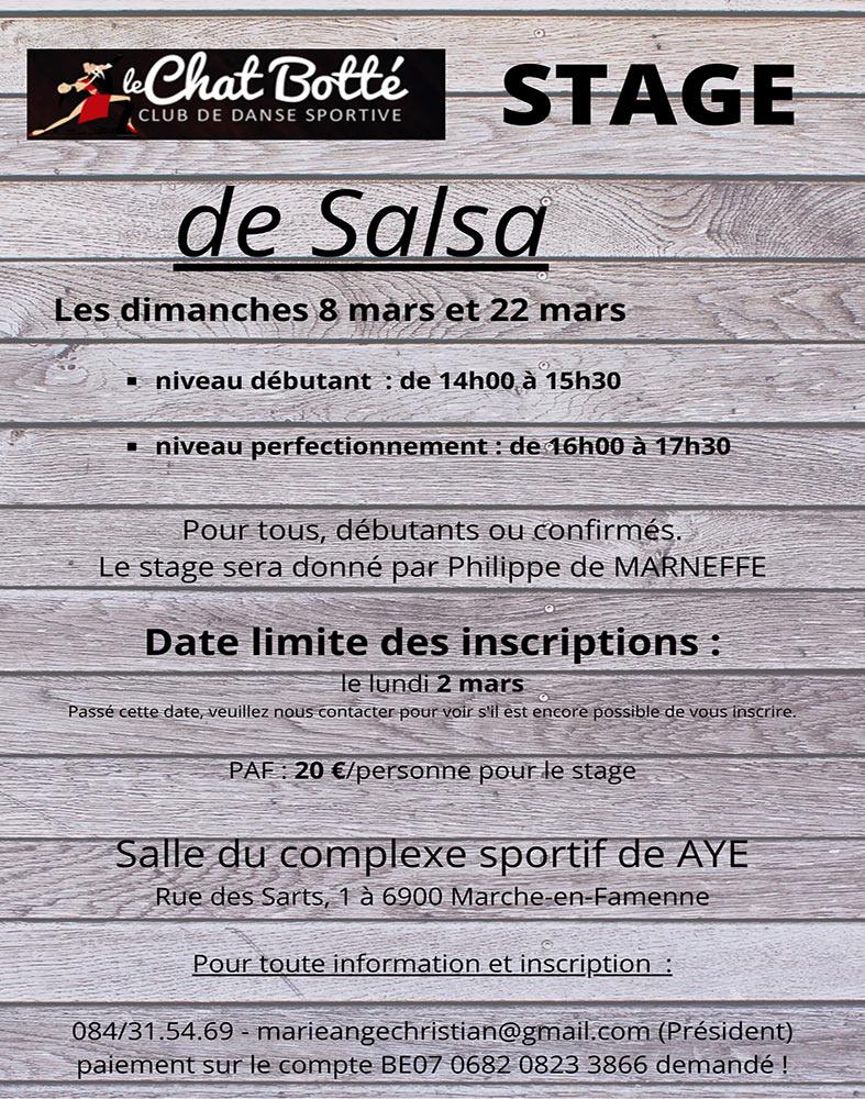 Stage de Salsa 1 Le Chat Botté 08/03