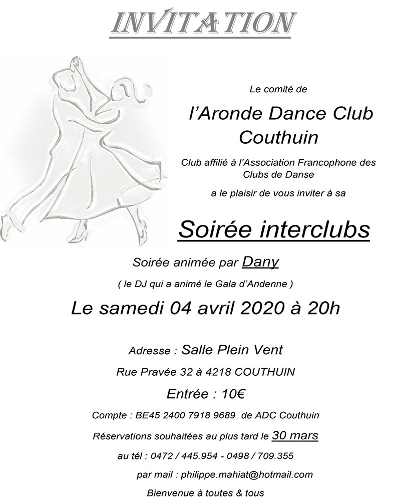 Soirée l'Aronde Dance 04/04