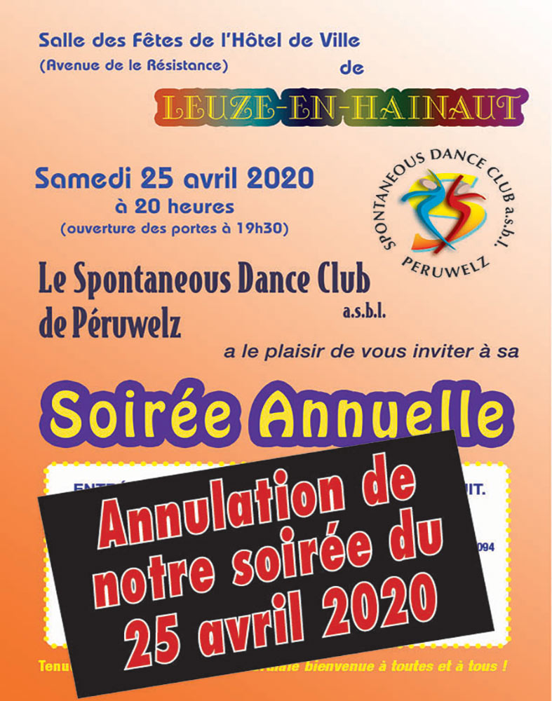 Soirée annuelle Spontaneous Dance Club 25/04