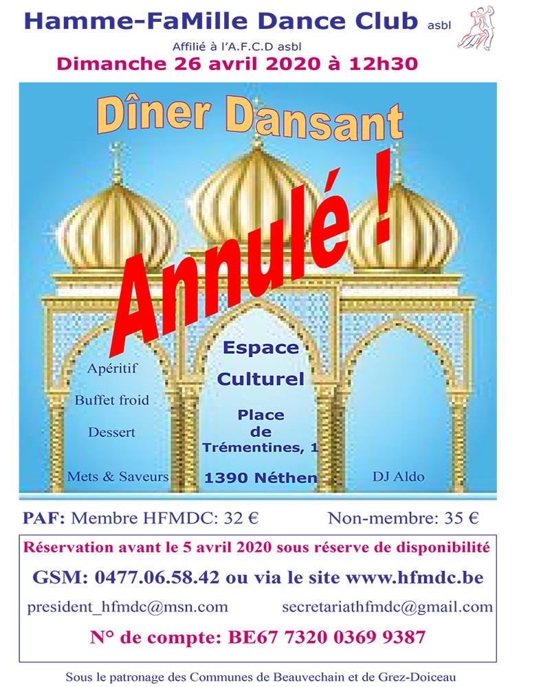 Annulation Hamme Mille 26/04